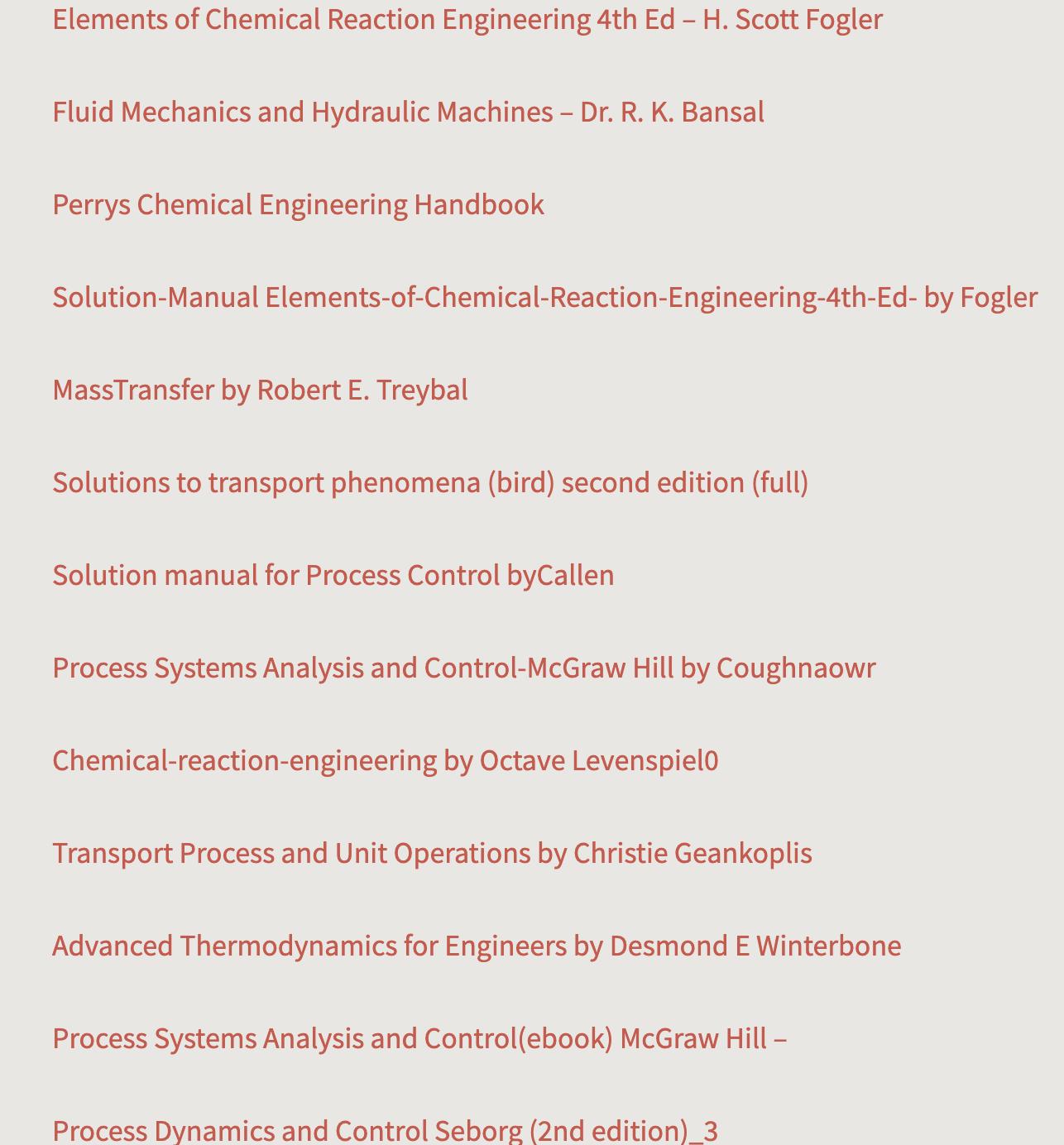 化学工学の教科書(洋書)